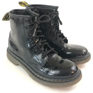 Dr. Martens Black Patent Leather Delany 8 Eye Boot